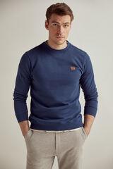 Pedro del Hierro Sweatshirt gola caixa Azul
