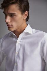 Pedro del Hierro Camisa de vestir tech-non iron estrutura tailored Branco