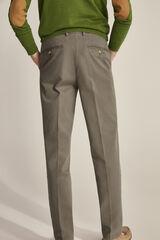 Pedro del Hierro Pantalón chino pima cotton regular fit Verde