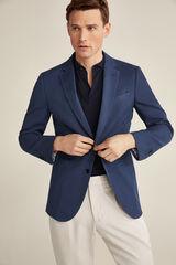 Pedro del Hierro Americana algodón lino lavado Azul