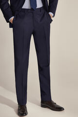 Pedro del Hierro Pantalón traje liso tailored fit Azul