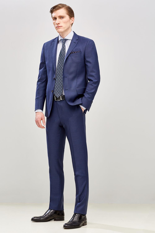 e07a00bc5 Pedro del Hierro Pantalón lana slim fit Azul