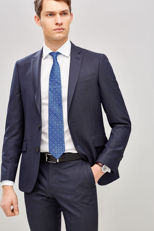 7b67c2f22 Pedro del Hierro Americana slim fit lana Azul