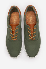 Springfield Zapatilla cordones algodón skate verde hoja