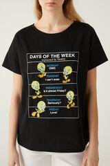 "Springfield Camiseta ""Days of the week"" Piolín negro"