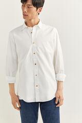 Springfield Camisa fil a fil blanco
