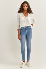 Springfield Jeans Talle Alto Skinny azul acero