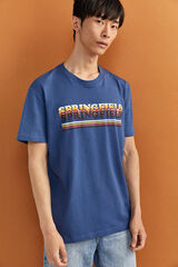 Springfield T-SHIRT LOGO SPRINGFIELD azul