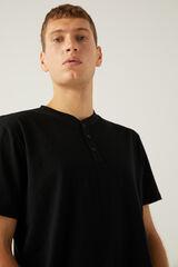 Springfield Camiseta cuello panadero negro
