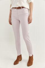 Springfield Pantalones Satén rosa