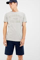 Springfield Camiseta manga corta stranger than fiction gris