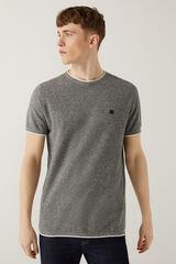 Springfield Camiseta torzal gris