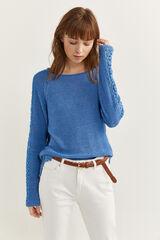 Springfield Jersey Mangas Crochet azulado