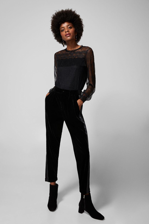 32c8f5155d Springfield Camiseta lace transparencias negro. Comprar