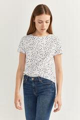 Springfield Camiseta Estampada Botones Hombro blanco