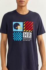 "Springfield Camiseta manga corta ""color block"" azulado"
