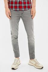 Springfield Denim skinny gris lavado gris claro