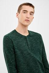 Springfield Camiseta manga larga panadero textura verde oscuro
