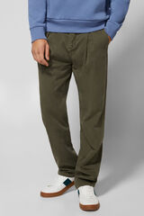 Springfield Pantalón chino pinzas tencel gris