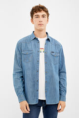 Springfield Camisa Western Wrangler azul