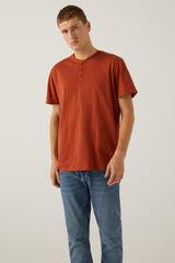 Springfield Camiseta cuello panadero granate