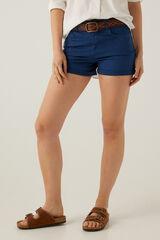 Springfield Calções jeans cor azul aço