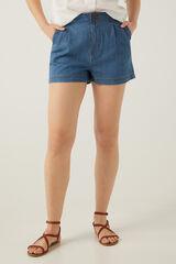 Springfield Calções jeans baggy azul aço