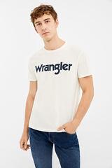 Springfield Camiseta Wrangler logo tee blanco