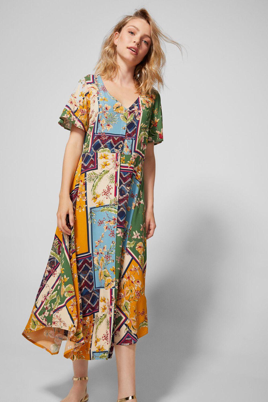 e173792d5 Vestido midi patchwork