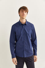 Springfield Camisa estampada azulado