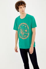 Springfield Camiseta manga corta neon casco caza oscuro