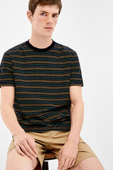 Springfield Camiseta de manga corta étnica azul