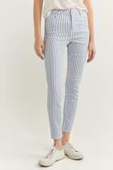 Springfield Pantalón Estampado Rayas blanco