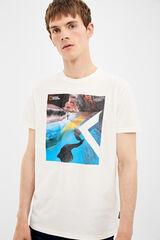 Springfield Camiseta manga corta national geographic crudo