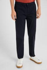 Springfield Chino cintura elástica ultra ligero azul