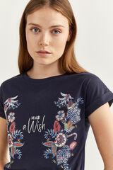 Springfield Camiseta Gráfica Flor Indiana azul