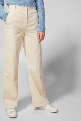 Springfield Pantalón panapierna ancha natural