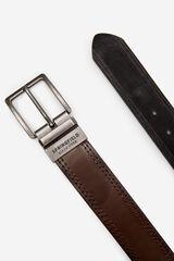 Springfield Cinturón efecto piel reversible negro