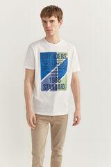 Springfield Camiseta manga corta texto cru