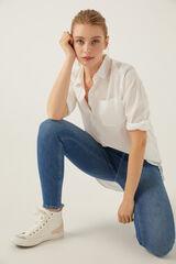 Springfield Jeans high rise skinny lavado sostenible azul acero