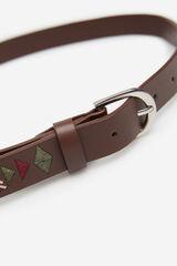 Springfield Cinturón Bordados marrón