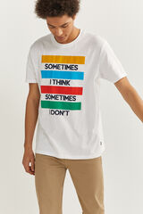Springfield Camiseta manga corta block blanco