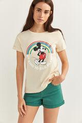 Springfield Camiseta Mickey Algodón Orgánico gris