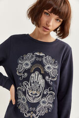 Springfield Sweatshirt mão Fátima preto