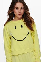 Springfield Sudadera smiley manga larga banana