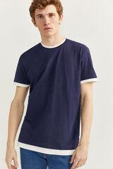 Springfield Camiseta manga doble azulado