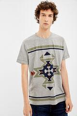 Springfield Camiseta de manga corta étnico gris