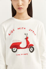 """Springfield Sweatshirt """"Ride With Style"""" natural"""