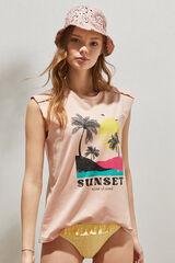 "Springfield Sweatshirt ""Sunset"" algodão orgânico cinza"