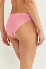 Springfield Braga Bikini Canalé rosa